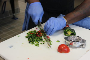 Residential Clients have the opportunity to learn kitchen skills and enjoy health meals.